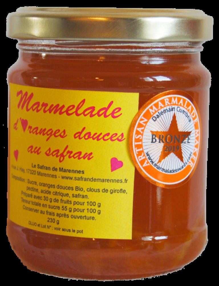 Marmelade d'oranges douces (bio) au safran