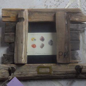 Cadre accroche clés en bois flotté d'Oléron