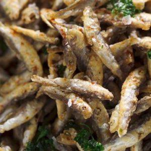 Cornet de friture d'éperlans